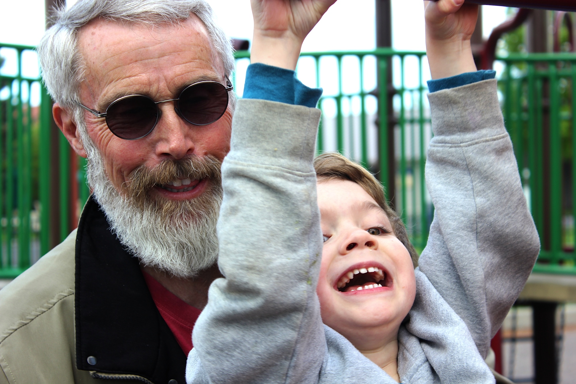 Bob and grandson at playground